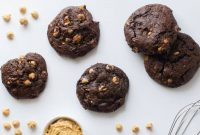 Chocolate Peanut Butter Cookies With Cake Combine