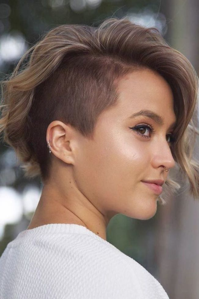 One-Sided Shaved Hairstyles » Brief Haircuts Fashions